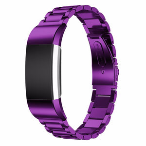 Stainless Steel Colored Fitbit Charge 2 Strap | Fitbit Charge 2 | Purple