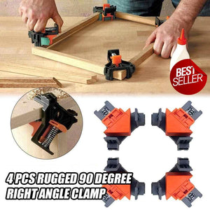 90 Degree Right Angle Auto Clamp - Set of 4
