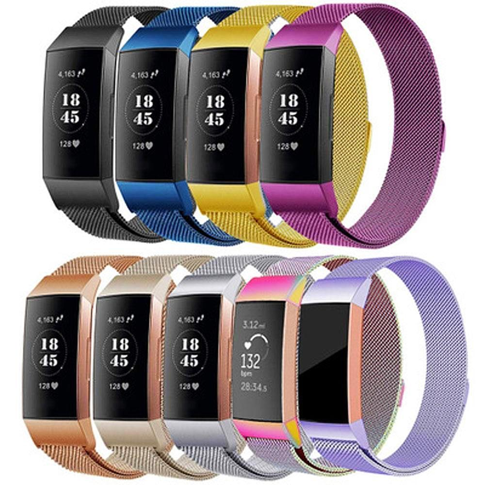 Milanese Stainless Steel Fitbit Charge 3 Strap | Fitbit Charge 3 Strap | [option1]