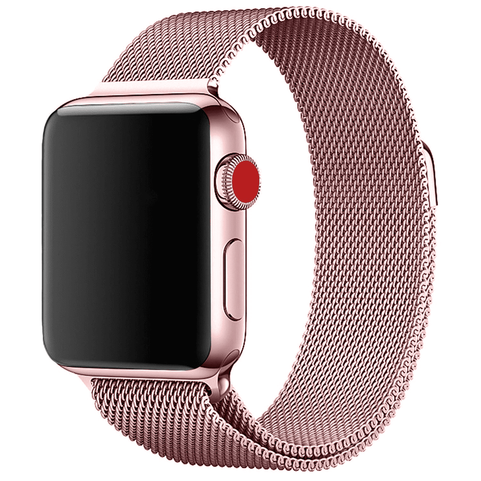 Milanese Stainless Steel Apple Watch Strap | Apple Watch | Pink Gold