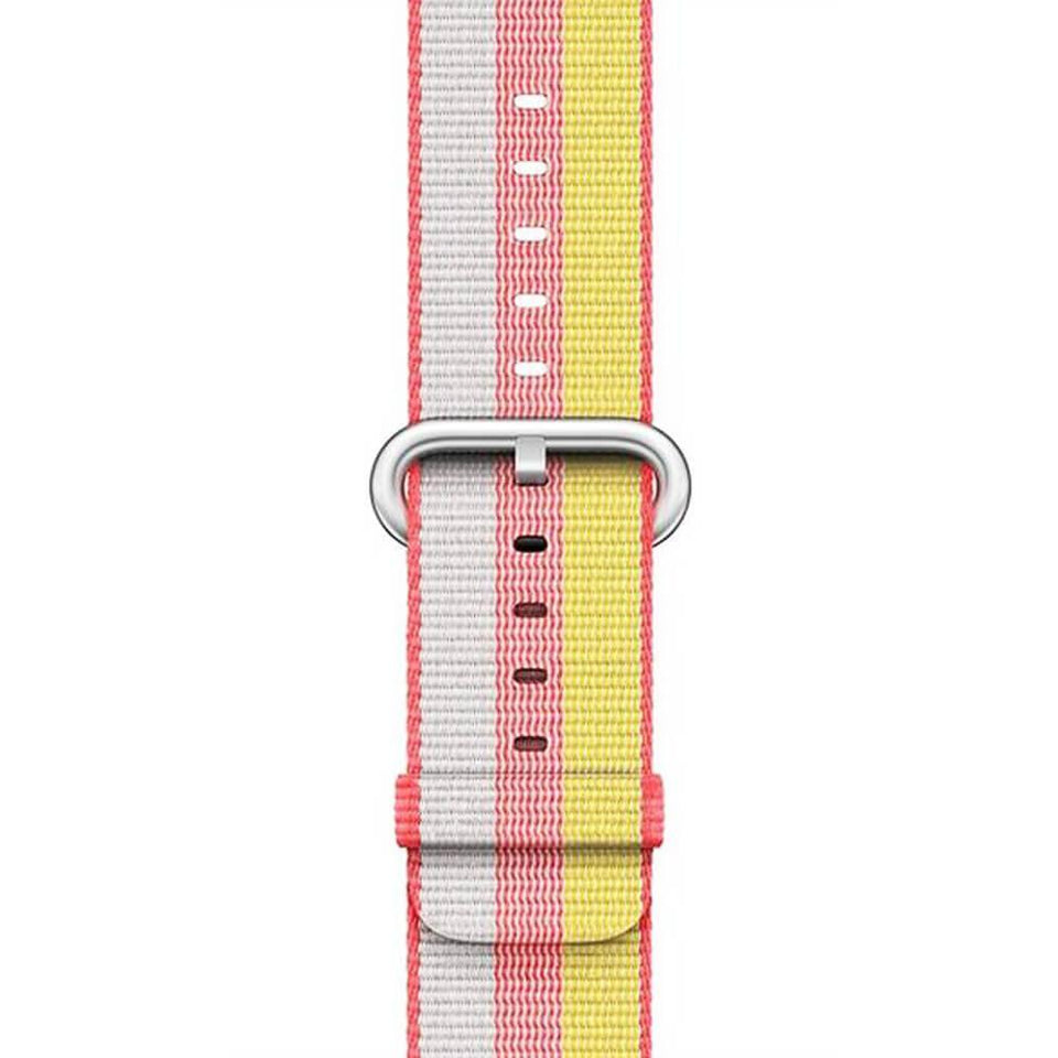 Striped Woven Nylon Apple Watch Strap | Apple Watch | Red Yellow