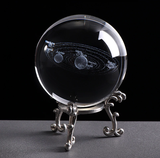 Crystal Ball 3D Solar System | [product_type] | w/Silver Base