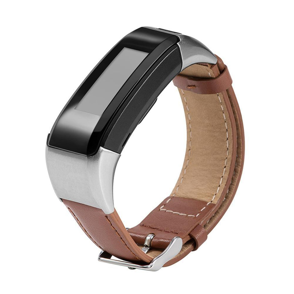 Leather Garmin Vivosmart HR Strap | Garmin Strap | Brown