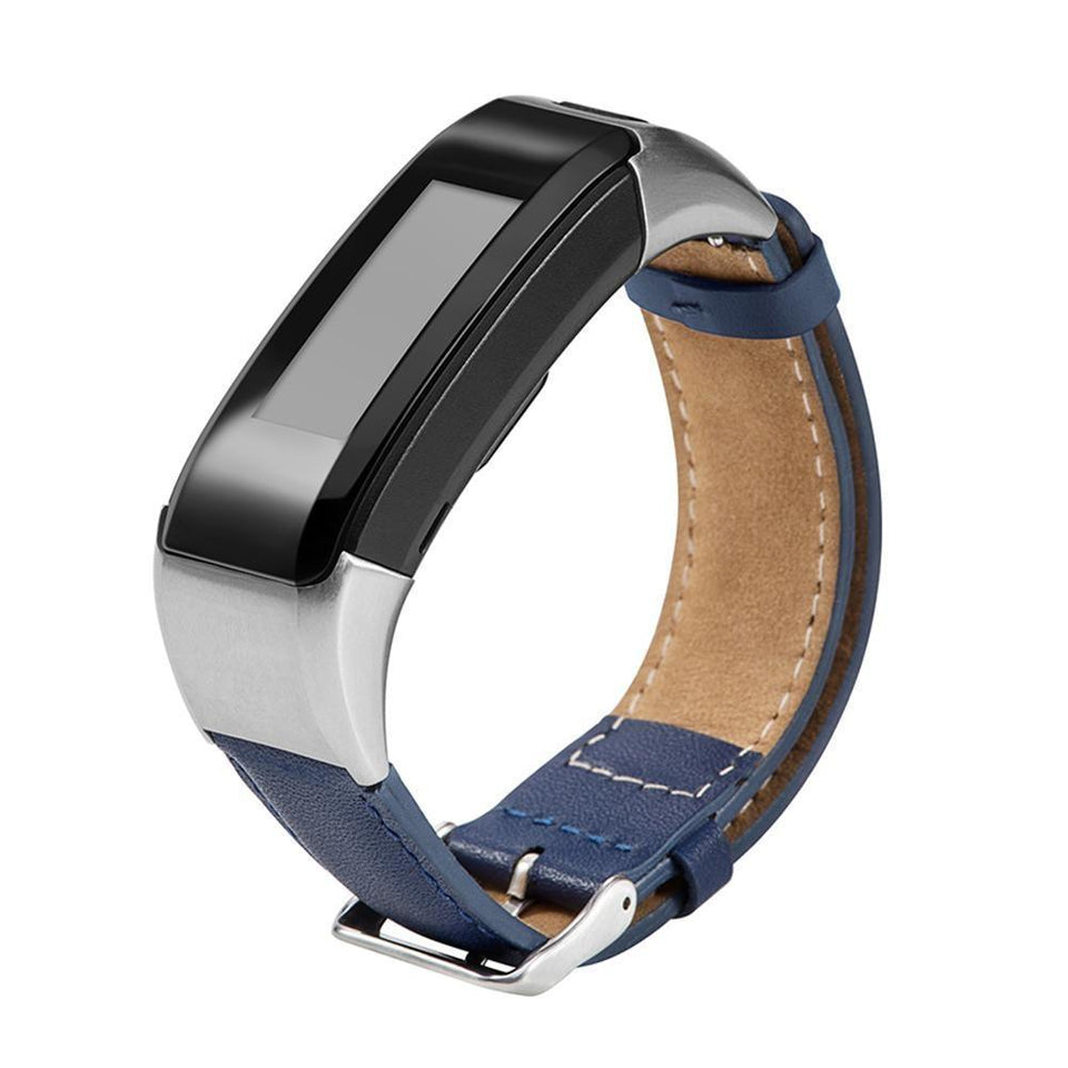 Leather Garmin Vivosmart HR Strap | Garmin Strap | Dark Blue