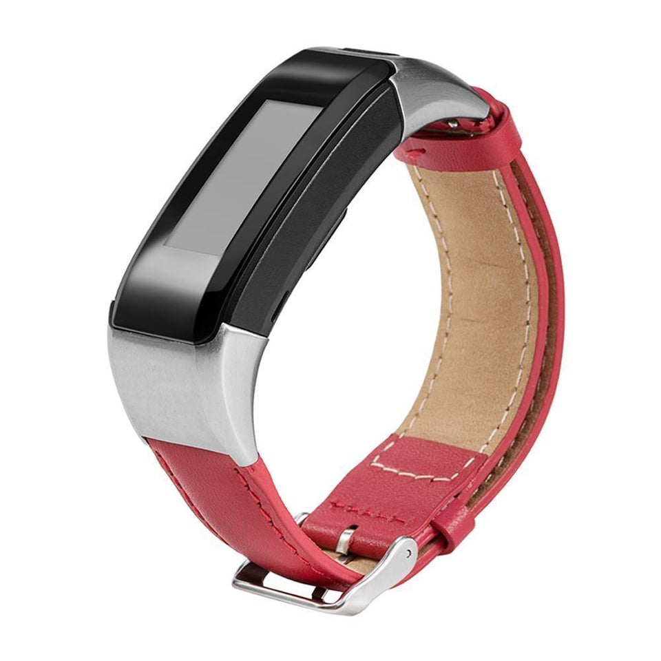 Leather Garmin Vivosmart HR Strap | Garmin Strap | Red