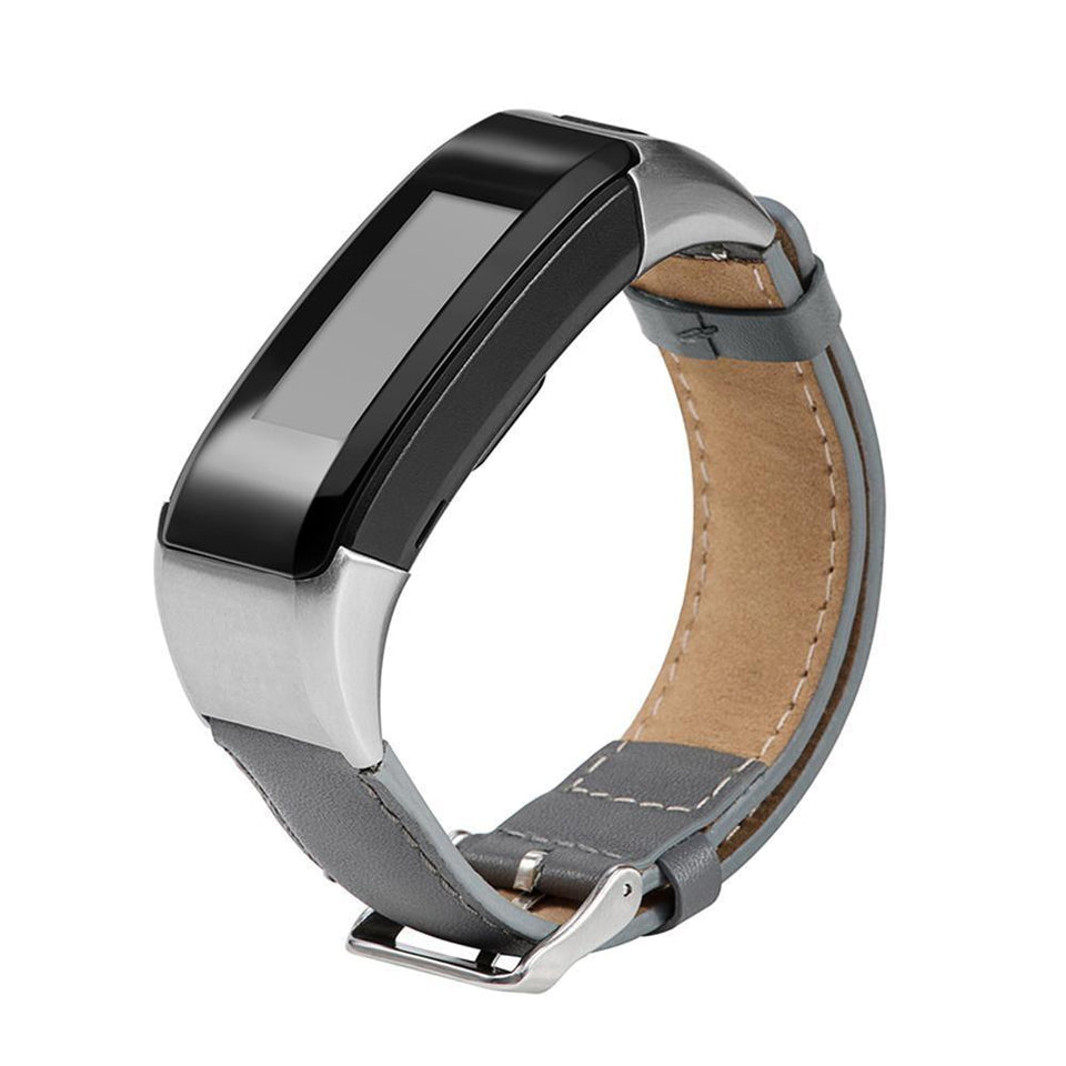Leather Garmin Vivosmart HR Strap | Garmin Strap | Gray