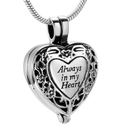 Always in my Heart Locket | Urn Jewelry | Urn Necklace | [option1]