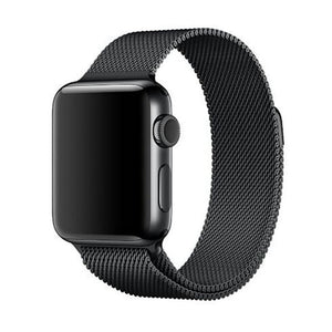 Milanese Stainless Steel Apple Watch Strap | Apple Watch | Black