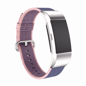 Woven Nylon Fitbit Charge 2 Strap | Fitbit Charge 2 | Blue Pink