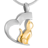Cat in Heart | Urn Jewelry | Urn Necklace | [option1]