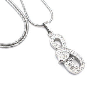 Crystal Infinity with Heart | Urn Jewelry | Urn Necklace | [option1]