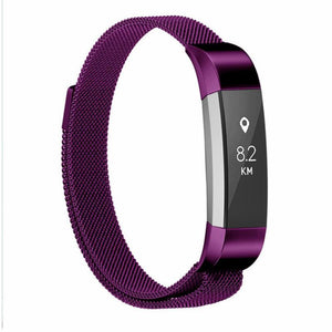 Milanese Colored Stainless Steel Fitbit Alta/Alta HR Strap | Fitbit Alta | Purple