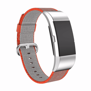 Woven Nylon Fitbit Charge 2 Strap | Fitbit Charge 2 | Orange Grey