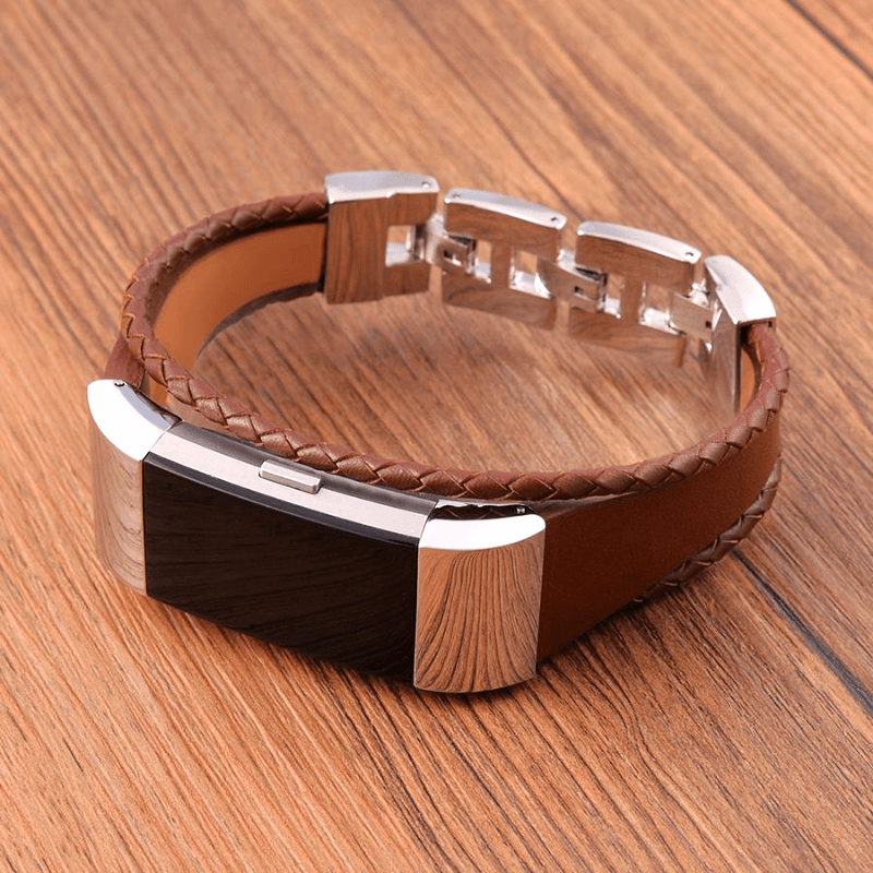 Leather Bracelet Fitbit Charge 2 Strap | Fitbit Charge 2 | Brown