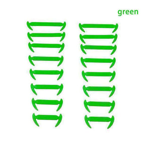 NO-TIE ELASTIC SHOELACES (16 PCS) | [product_type] | Green