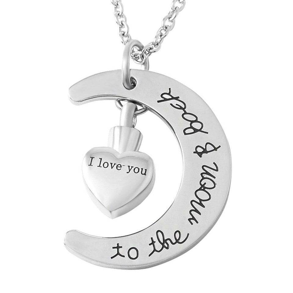 Love You to the Moon and Back | Urn Jewelry | Urn Necklace | [option1]