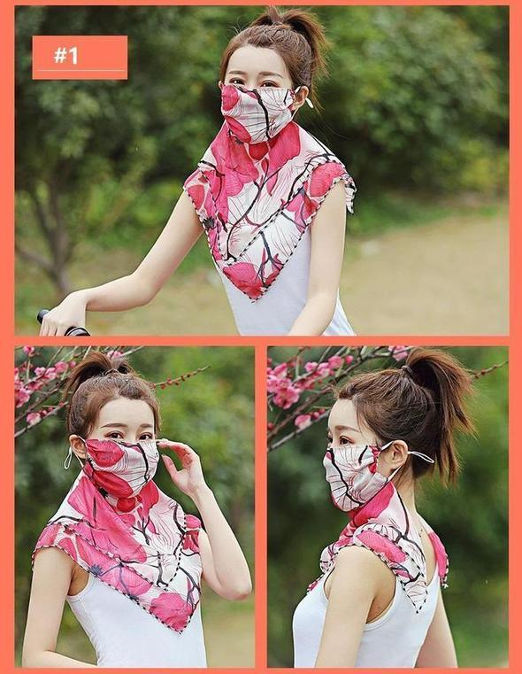 Woman Lightweight Sun Protection Silk Scarf
