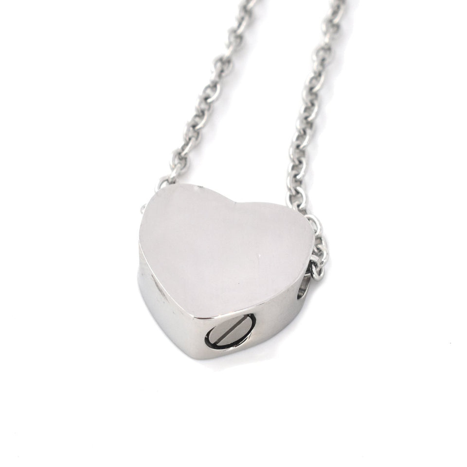 Mini Heart | Urn Jewelry | Urn Necklace | Silver