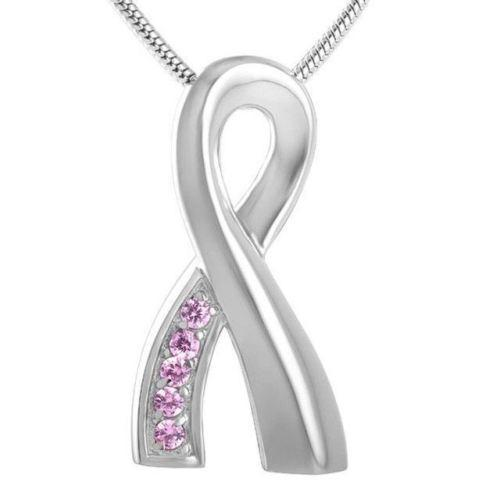 Pink Ribbon Breast Cancer Awareness | Urn Jewelry | Urn Necklace | [option1]