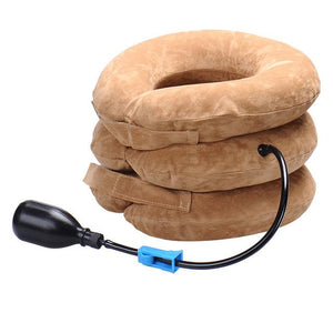 Inflatable pain relief Neck massage Traction Device | Beauty, Health, | brown