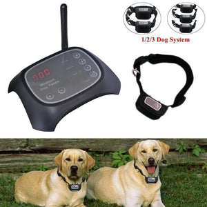 Dog Fence with Wireless Collar | Invisible Dog Fence | 2 dog systemUS Plug