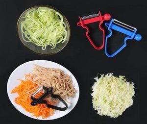 MAGIC TRIO PEELER - SET OF 3 - SLICER SHREDDER PEELER