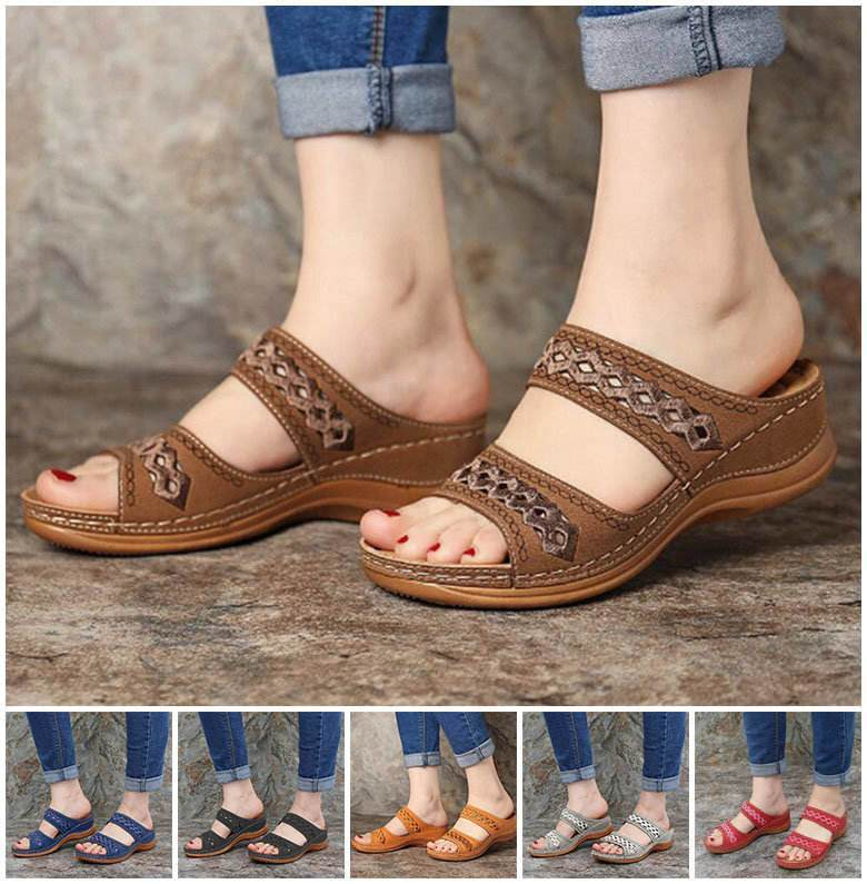 Best Seller - OPEN TOE VINTAGE WOMEN SANDALS - 2020 Collection