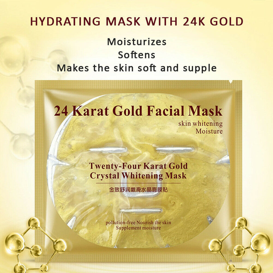 Hydrated 24K Gold Bio-Collagen Face Mask
