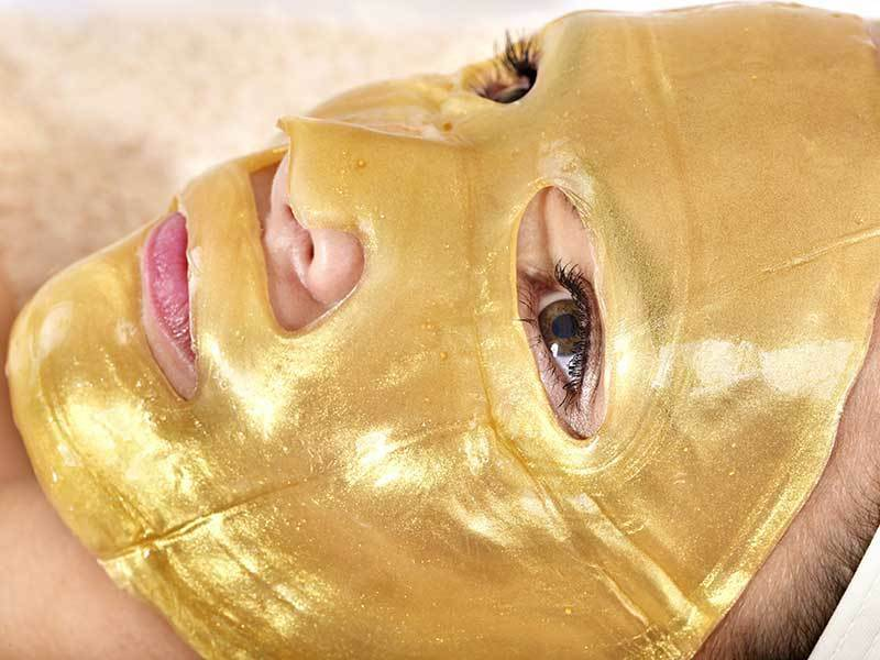 24K Gold Crystal Collagen Facial Face Anti-Aging
