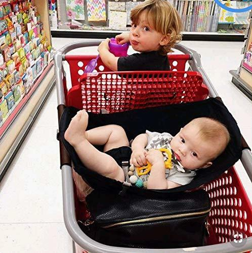 Baby shopping cart hammock | [product_type] | Solid Black