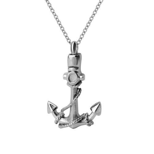 Silver Anchor | Urn Jewelry | Urn Necklace | [option1]