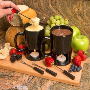 Sweetheart Chocolate Fondue Mug Set
