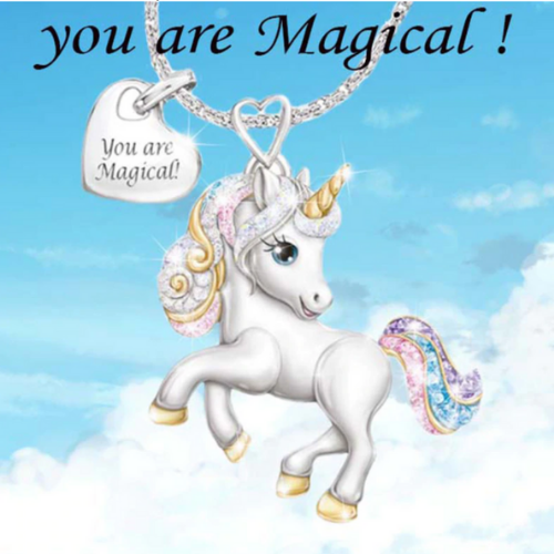 Cute Unicorn Necklace - You Are Magical Unicorn Necklace