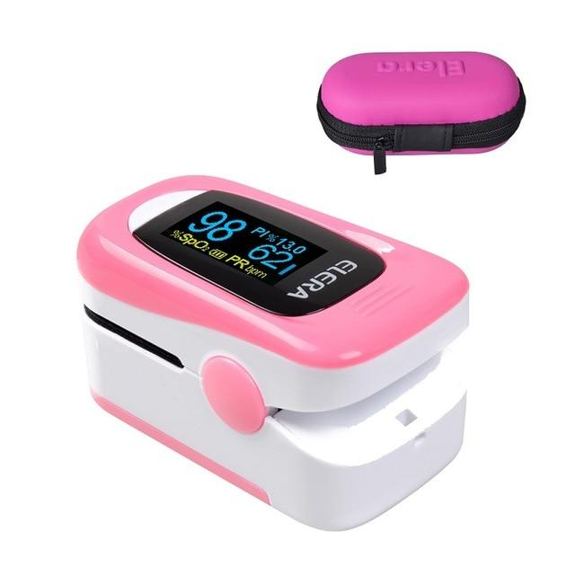 Pulse Oximeter | Blood Pressure | pink with case