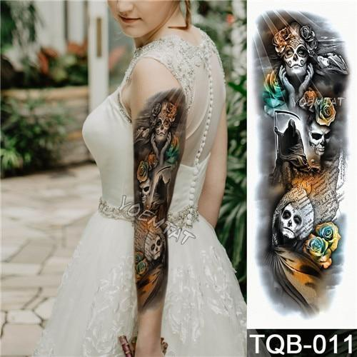 Edgy Fake Tattoo Sleeve | Temporary Tattoos | 3