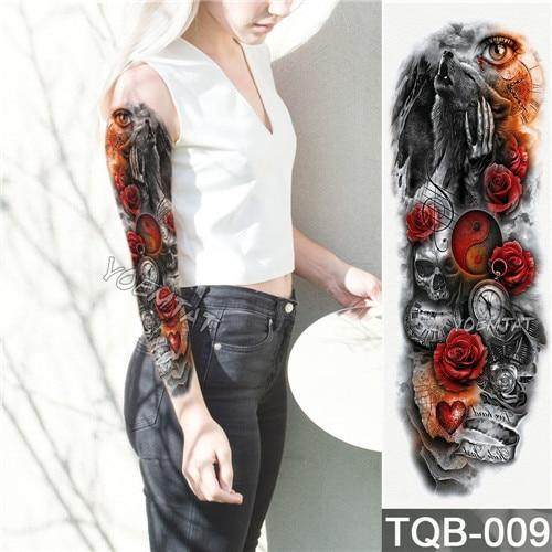 Edgy Fake Tattoo Sleeve | Temporary Tattoos | 6