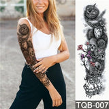 Edgy Fake Tattoo Sleeve | Temporary Tattoos | 7