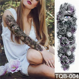 Edgy Fake Tattoo Sleeve | Temporary Tattoos | 9