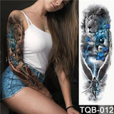 Edgy Fake Tattoo Sleeve | Temporary Tattoos | 11