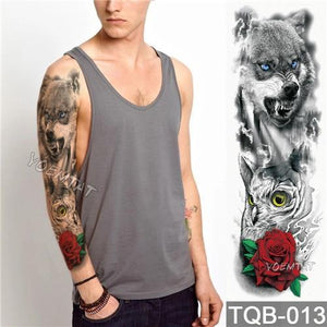 Edgy Fake Tattoo Sleeve | Temporary Tattoos | 12
