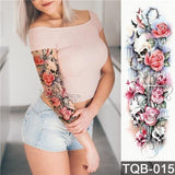 Edgy Fake Tattoo Sleeve | Temporary Tattoos | 13