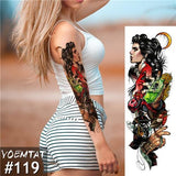 Edgy Fake Tattoo Sleeve | Temporary Tattoos | 25