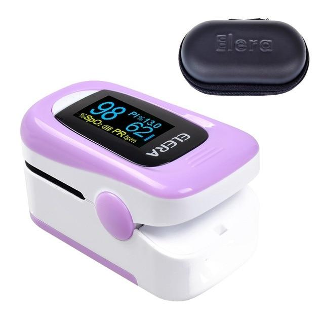 Pulse Oximeter | Blood Pressure | purple with case