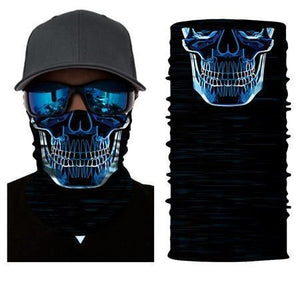 Motorcycle Scarf | [product_type] | Neon Skull