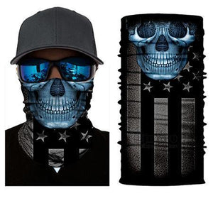 Motorcycle Scarf | [product_type] | Blue Skull