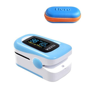 Pulse Oximeter | Blood Pressure | blue with case