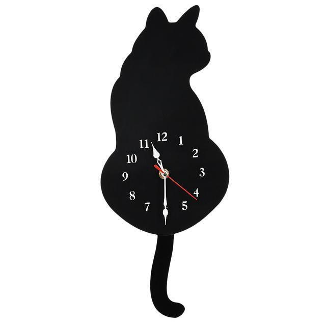 Cat Wall Clock | [product_type] | Black