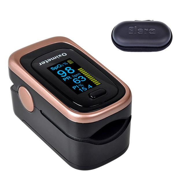 Pulse Oximeter | Blood Pressure | black with case