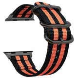 Double Buckle Nylon Apple Watch Strap | Apple Watch Strap | Black Orange
