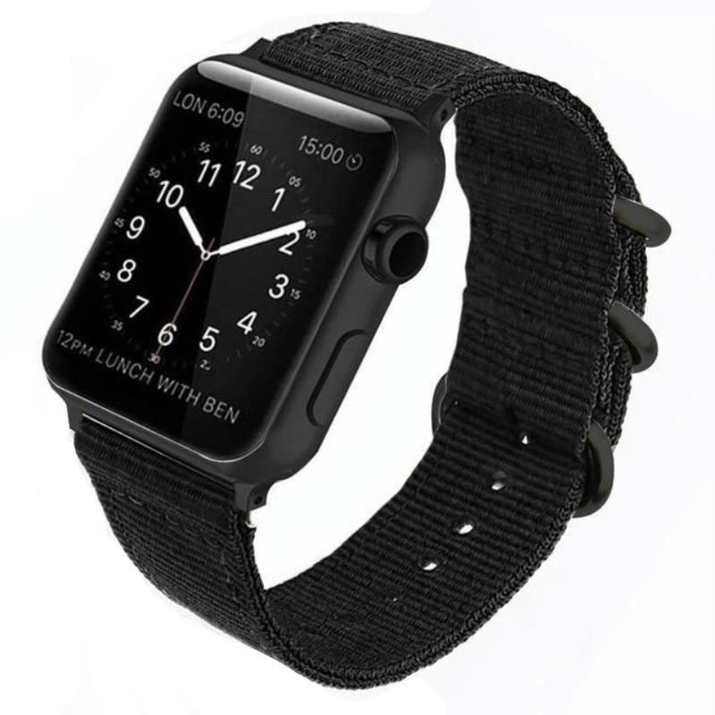 Double Buckle Nylon Apple Watch Strap | Apple Watch Strap | Black